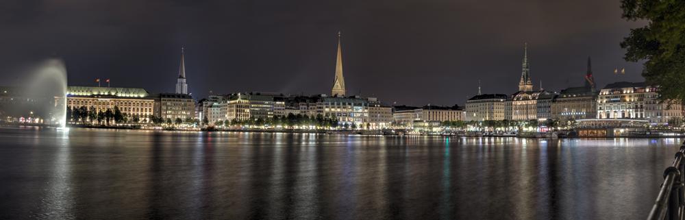 Hamburg Binnenalster Richtung Ost